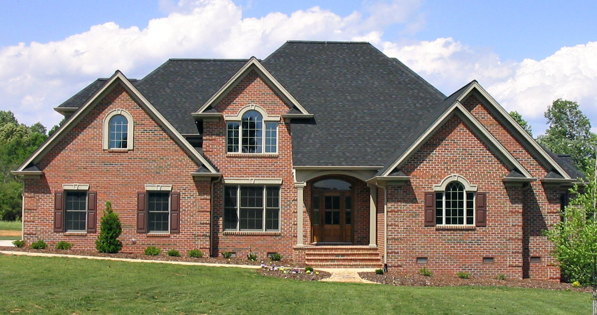 custom brick home at moss lake