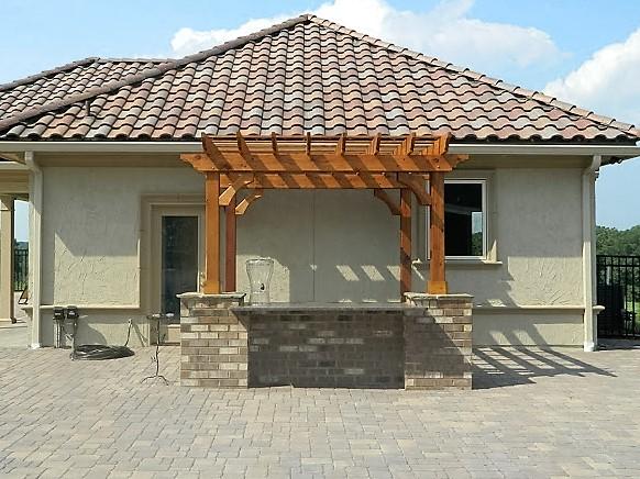 Mediterranean Pool House